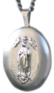 L7004 sterling our lady of guadalupe locket