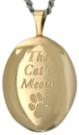 L7010 gold Cats Meow oval locket