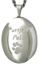L7011 oval purrfect pals pet locket