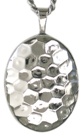 Hammer Pattern oval locket