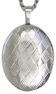 Diamond Pattern oval locket
