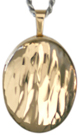 Gold wave 16mm oval locket