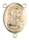 L7031 Sacred Heart Locket Rosary Center