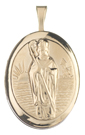 gold st patrick oval locket
