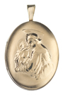 gold st anthony oval locket