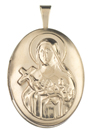 gold st therese oval locket