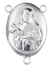 L7042 saint therese locket rosary center
