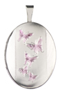 16mm oval locket with butterflies