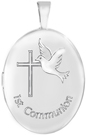 L7069 oval first communion locket