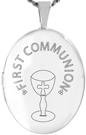L7076 communion oval locket