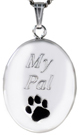 L7082 Paw Pet oval locket
