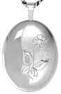 Butterfly with diamond oval locket