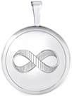 L530 16mm round locket with infinity symbol