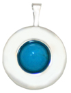 16mm round locket with turquoise