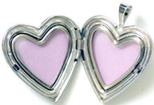 20mm open heart locket