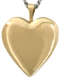 20mm gold heart locket