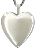 silver 20mm heart locket