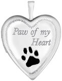 L5002E paw of my heart pet locket