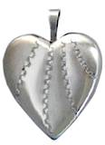 2 texture 20mm heart swirl locket