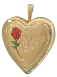 L5008 Love with rose heart locket