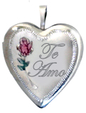 L5009 sterling te amo locket