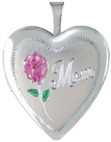 L5010 Mom with rose heart locket