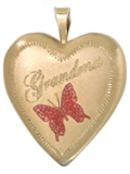L5011 grandma gold heart locket