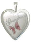 L5011 sterling grandma with butterfly locket