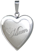 L5012K Mum with heart 20mm heart locket