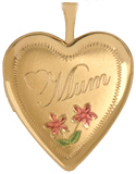 L5013K Mum with rose heart locket