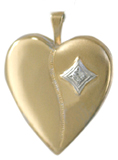 gold diamond setting locket