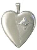 silver embossed setting locket