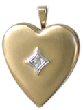 gold embossed locket with diamond