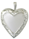silver framed 20mm heart locket