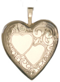 gold double 20mm hearts locket