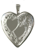 double heart 20mm heart locket