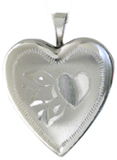 scrolled 20mm heart locket