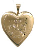 gold 4 heart locket