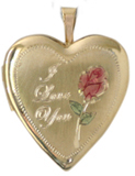 L5050 Love you heart locket