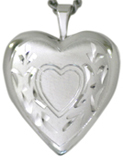 scroll 20mm heart locket