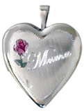 L5054 sterling mama heart locket