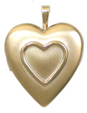 gold embossed heart locket