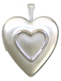 embossed raised heart locket
