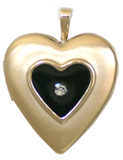 gold raised heart with epoxy