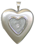 silver raised heart