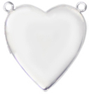 L5067 2 ring heart locket