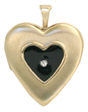 raised heart locket with resin