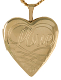 L5077 scrolled love locket