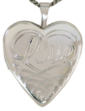 L5077 sterling love heart locket
