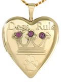 L5079 pet crown heart locket